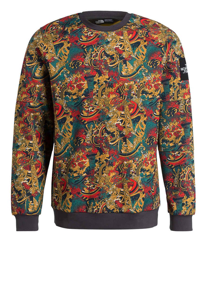Kaufen Fine The GelbSchwarzRot Sweatshirt North Face Bei Crew Von CtdsrxhQB