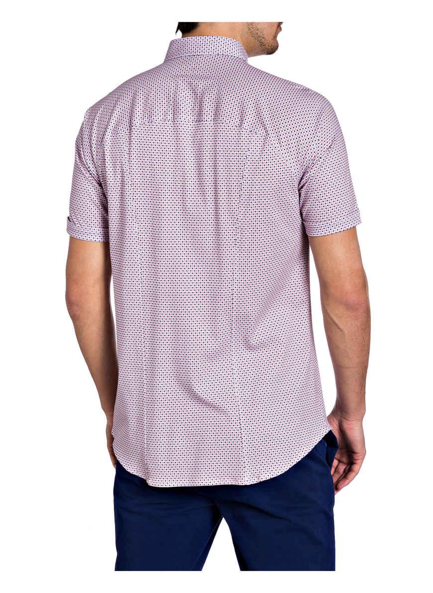 Bei Kaufen Fit hemd Desoto WeissRotBlau Slim Von Halbarm xrdeWBoC