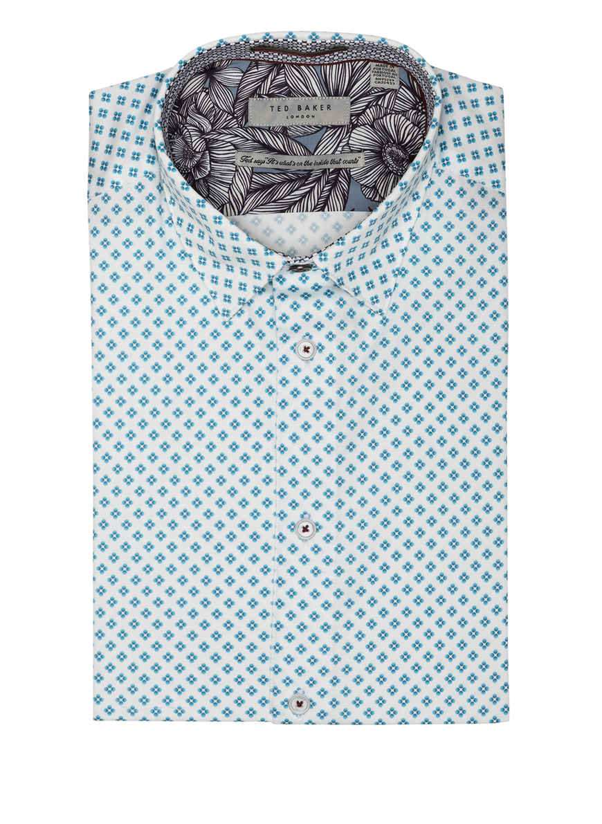 Von Weiss Gemustert Kaufen Slim Bei Hemd Whaale Fit Ted blau Baker OkXPiuZ