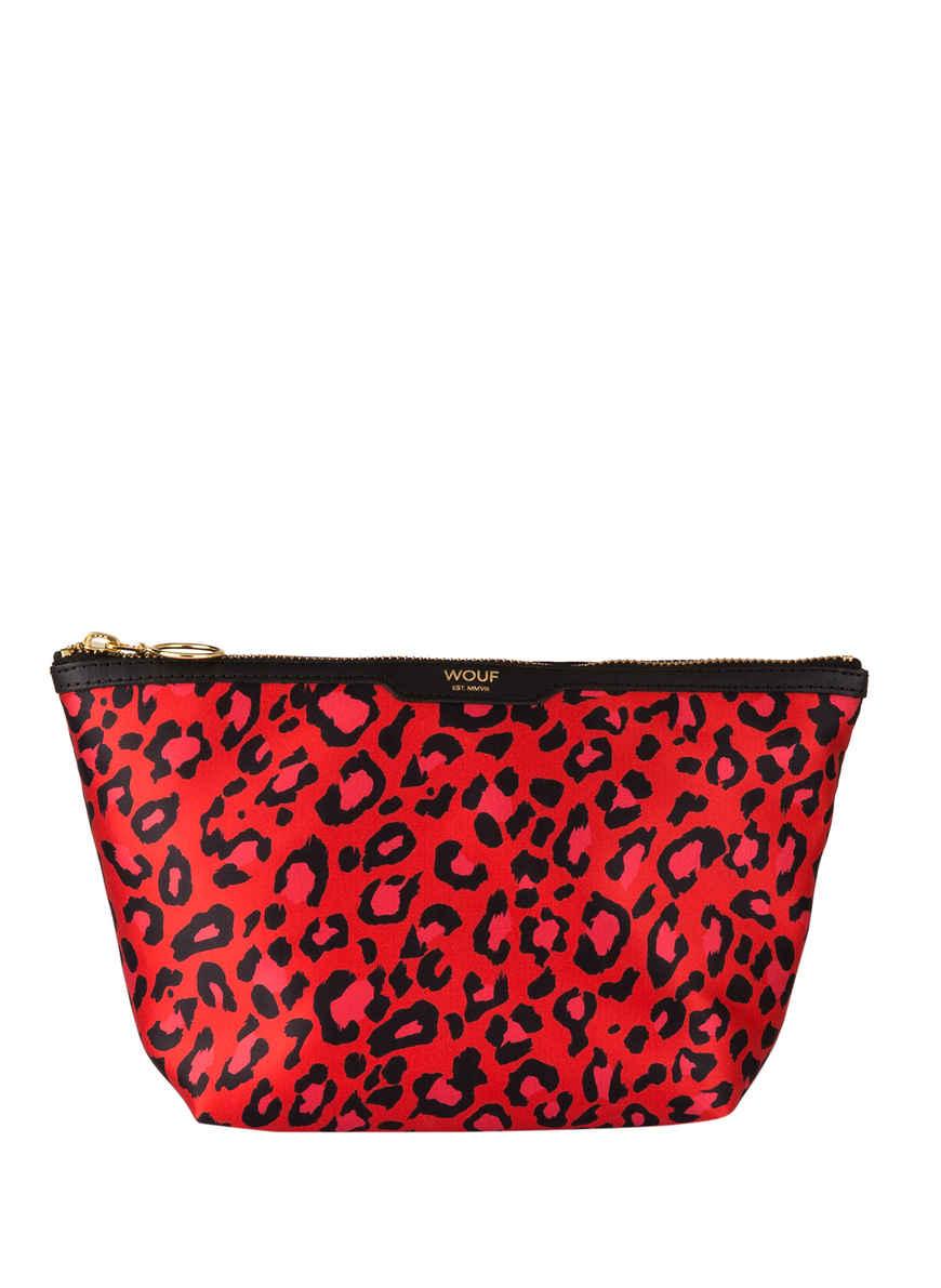 Red Von Leopard Bei Kosmetiktasche Kaufen RotSchwarz Wouf trdshQ