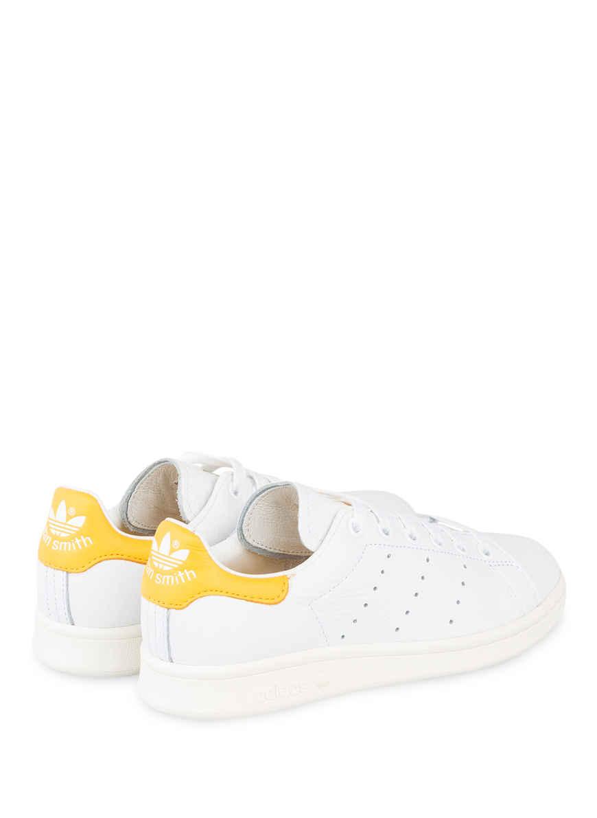 Sneaker Stan Smith Von Adidas Originals Weiss/ Gelb Black Friday