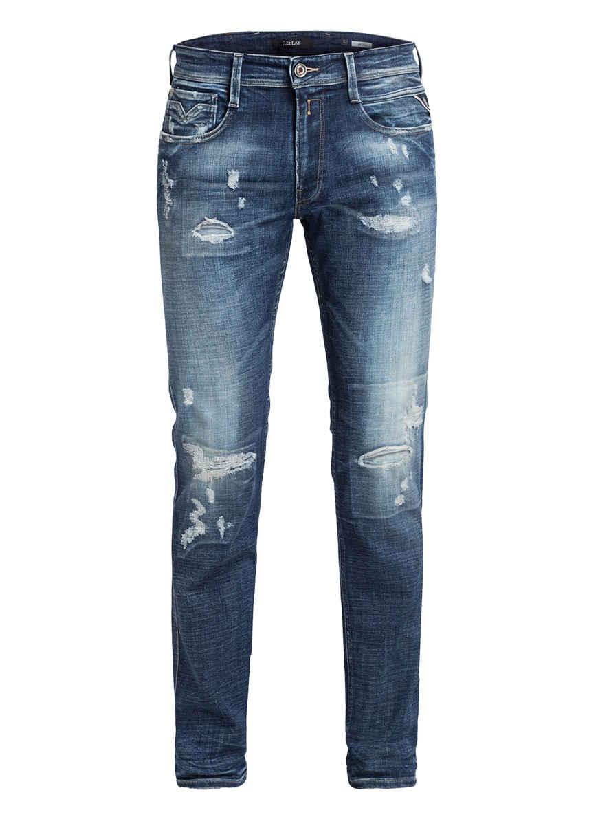 Destroyed Von Slim Replay Kaufen Anbass Fit Blue Medium Bei 009 jeans bfyg76Y