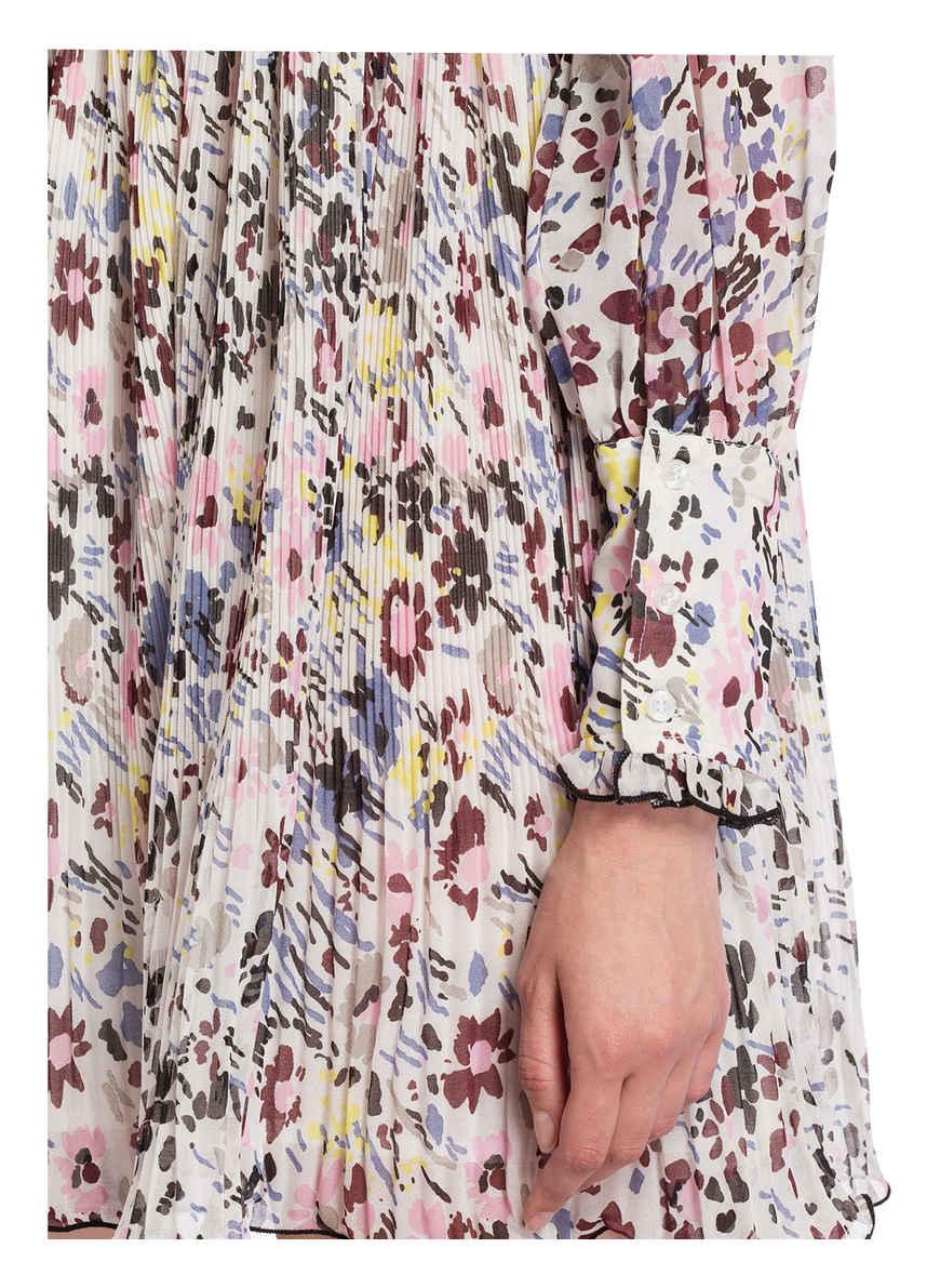 Kleid Georgette Von Ganni Creme/ Rosa/ Blau