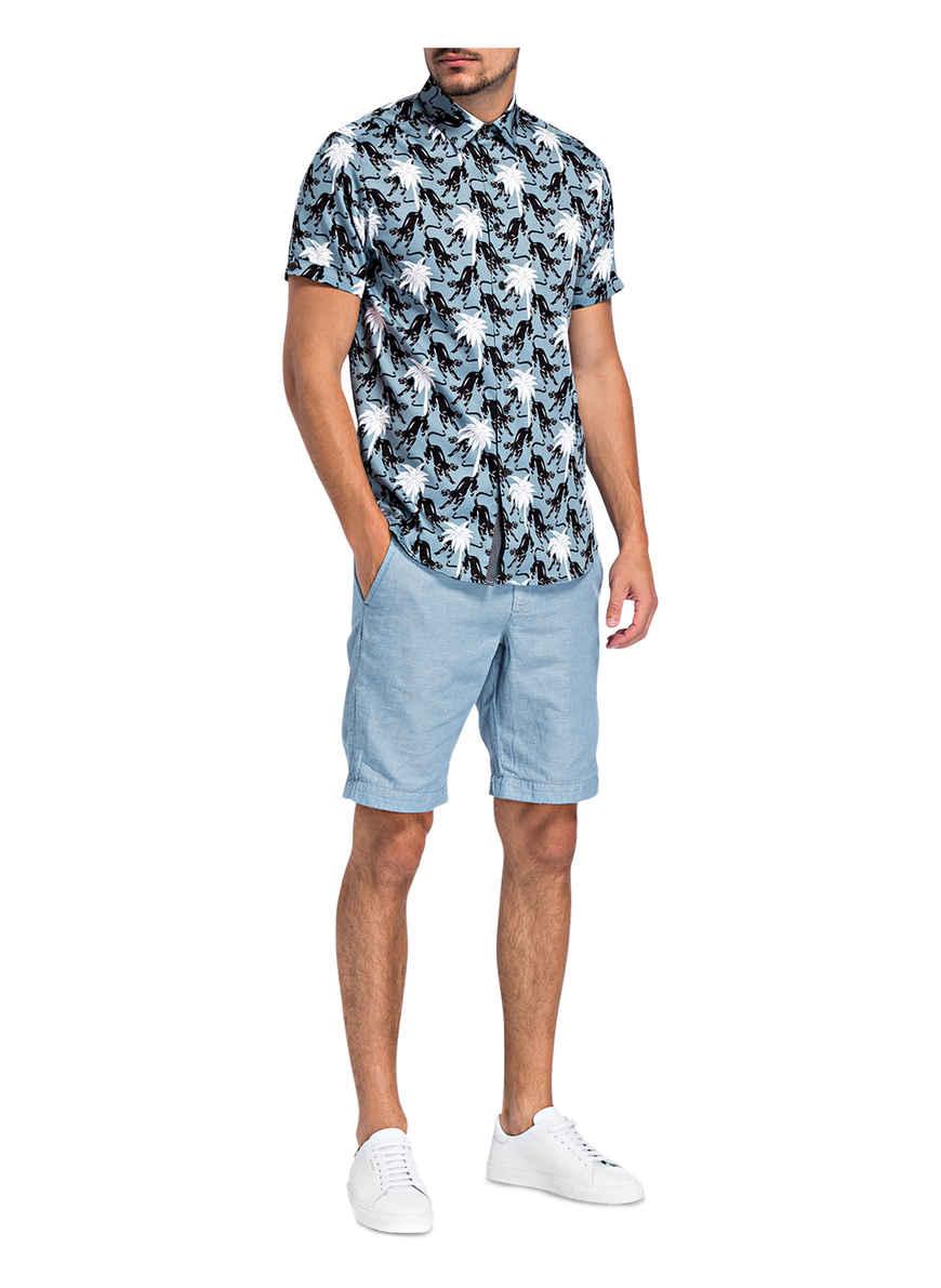 Patrick Halbarm Von Ted Baker Kaufen Regular Fit HellblauSchwarzWeiss hemd Bei 8nm0wOvN