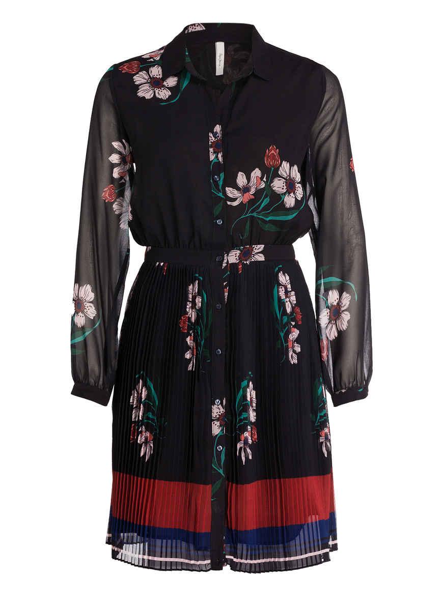 Von Jeans Pepe Schwarz Lali Blumen Plisseekleid Bei Kaufen ZPkXiu