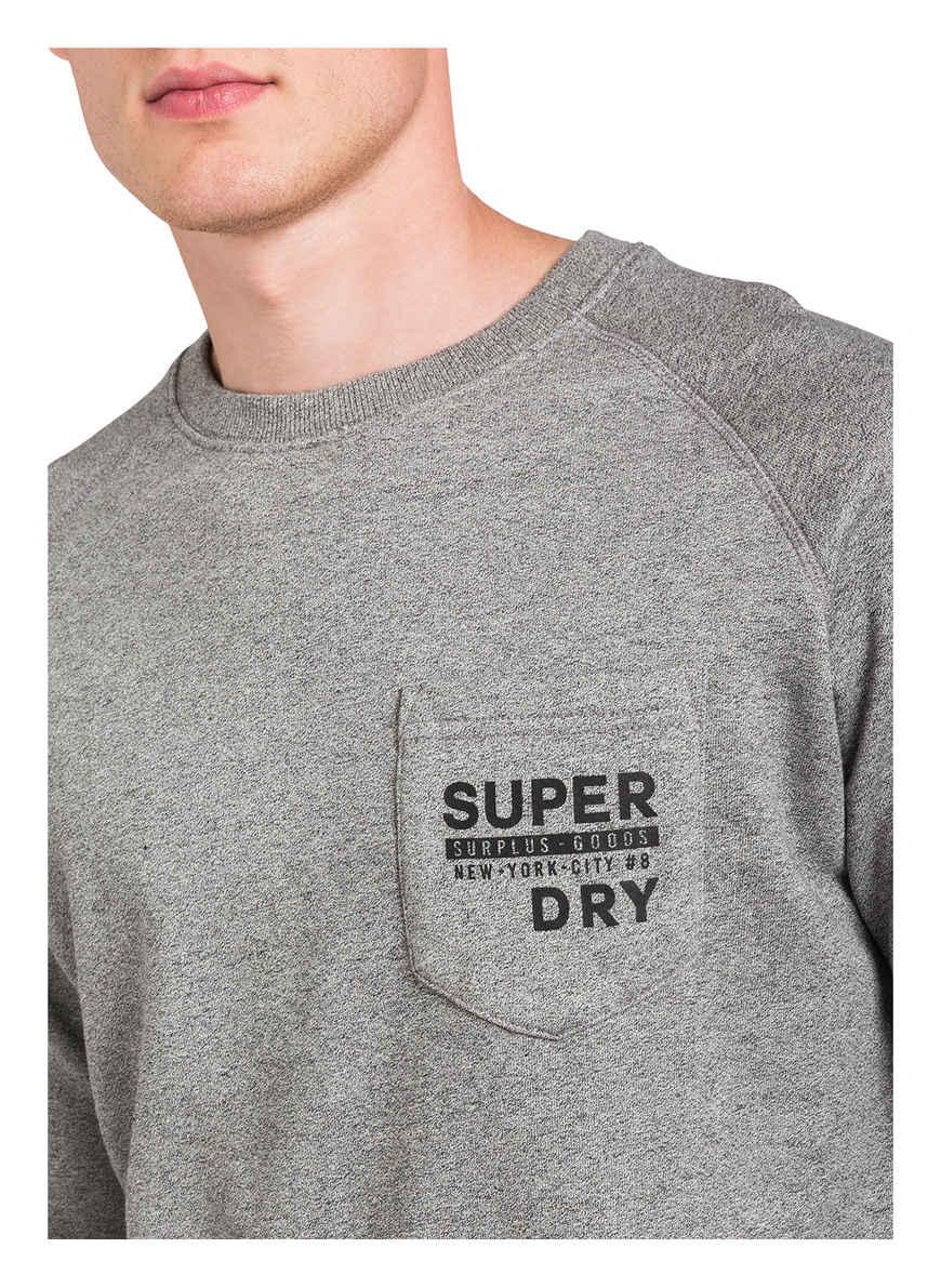 Sweatshirt Von Superdry Grau Meliert Black Friday