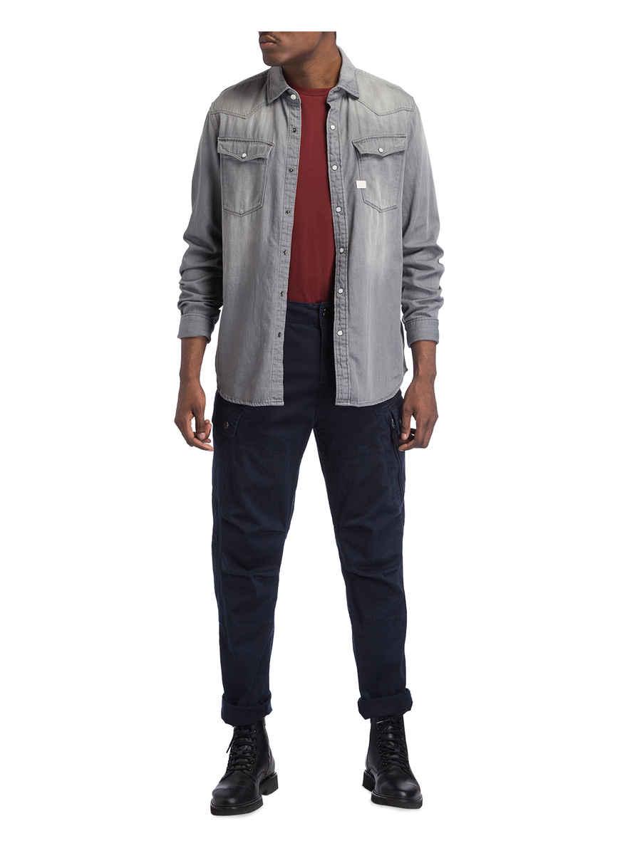 Slim Fit Jeanshemd Bei Von 3301 Raw G Kaufen Grau star 4j3AL5qcR