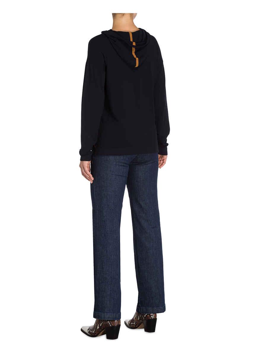 Strick-hoodie Von More & Dunkelblau
