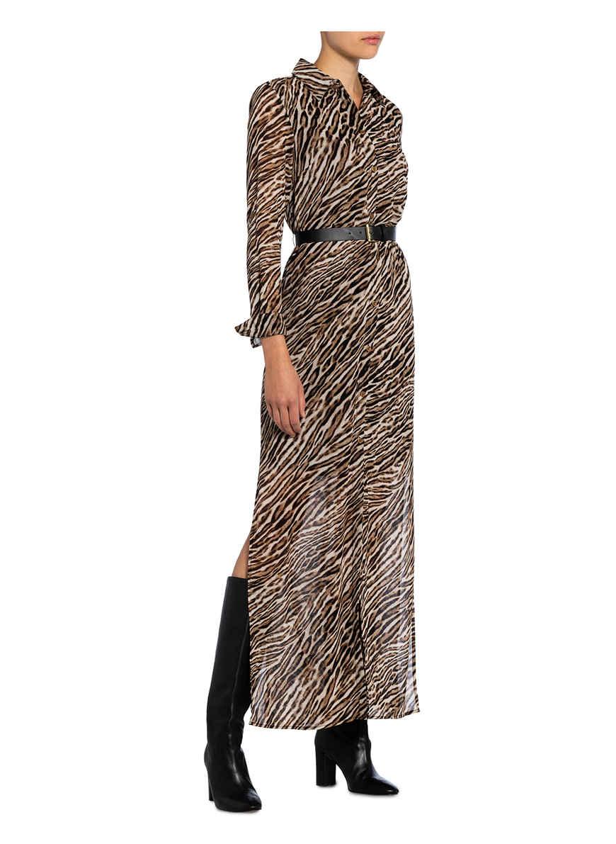 Kleid Von Michael Kors Schwarz/ Braun/ Beige