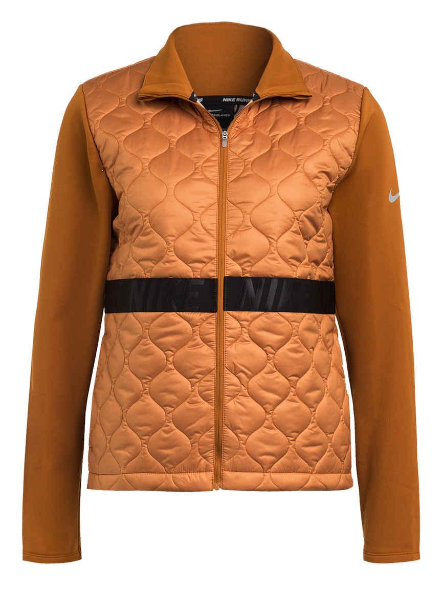 Nike Damen Laufjacke Aero Layer Jacket orangeschwarz