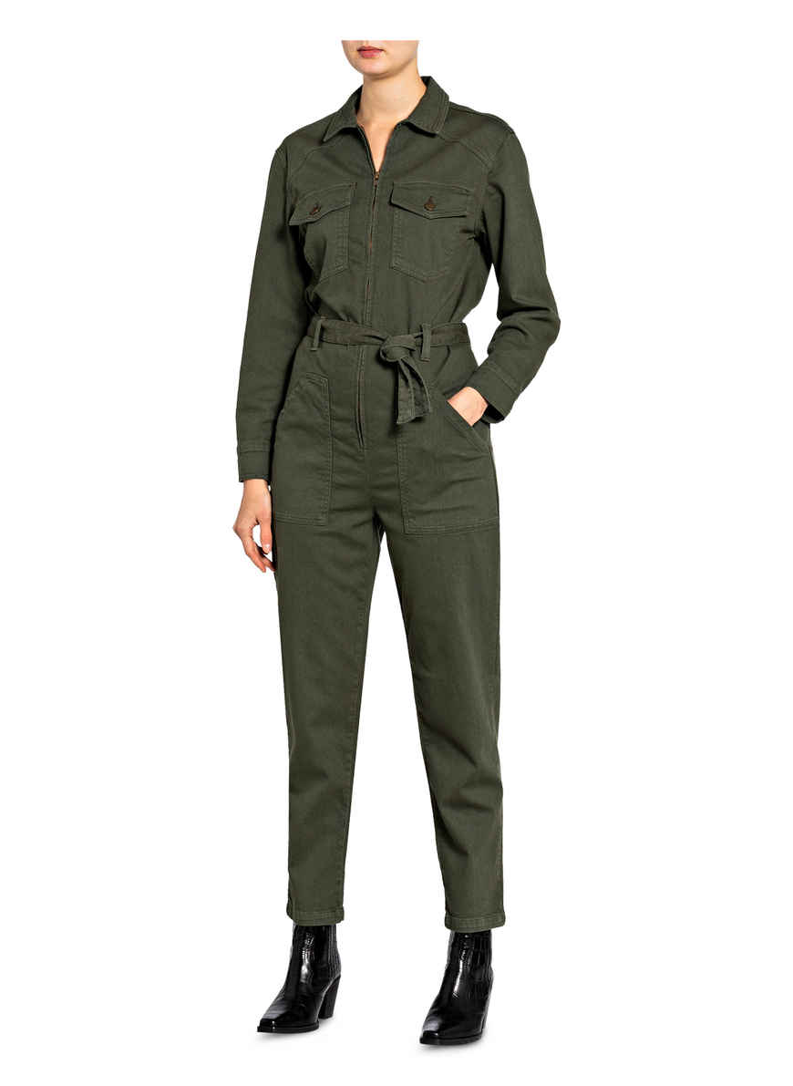 Denim-jumpsuit Watery Von Ba&sh Khaki