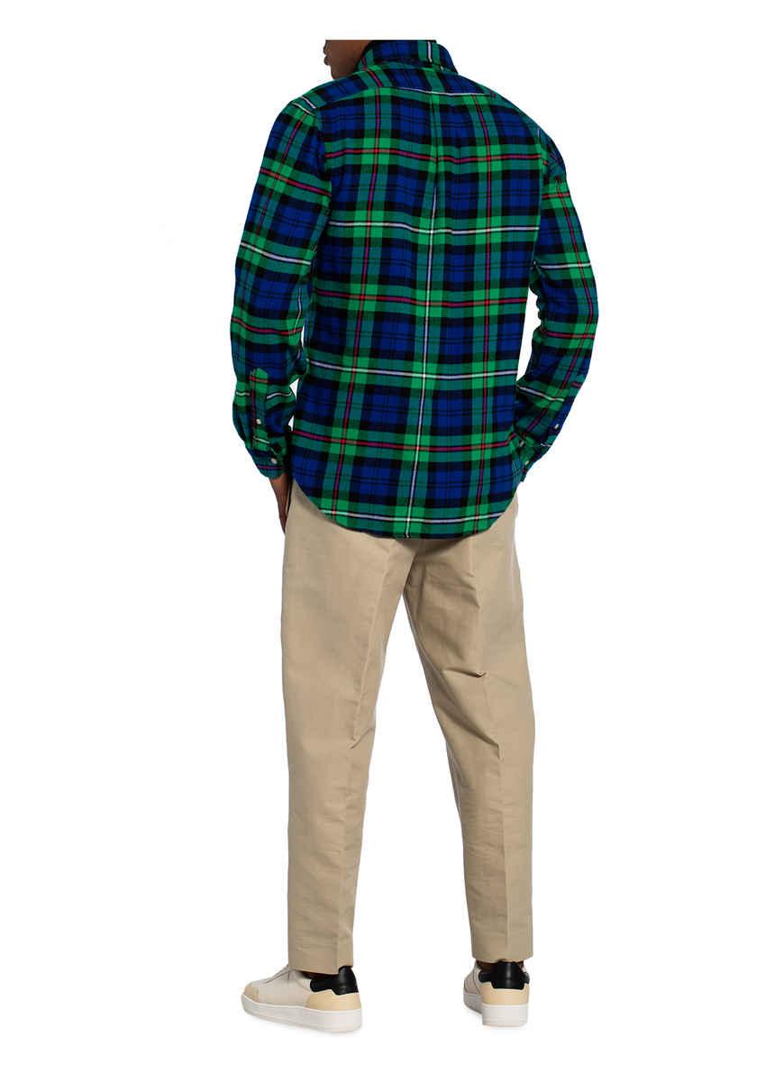 Flanellhemd Custom Fit Von Polo Ralph Lauren Blau/ Grün/ Rot Black Friday