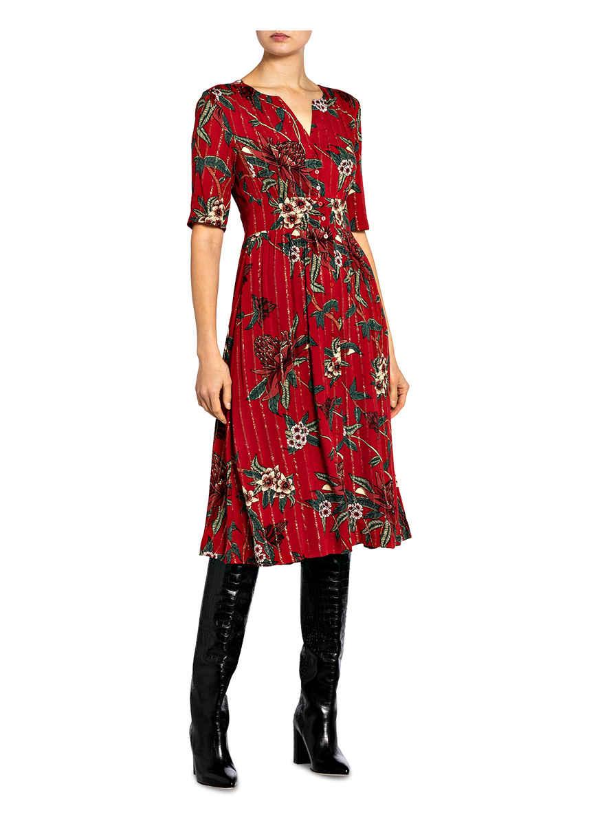 Hemdblusenkleid Azala Von Ba&sh Rot/ Grün/ Nude