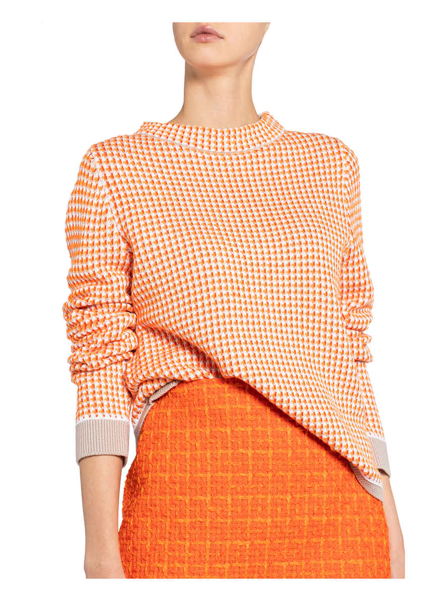 Pullover Von Windsor. Orange/ Beige
