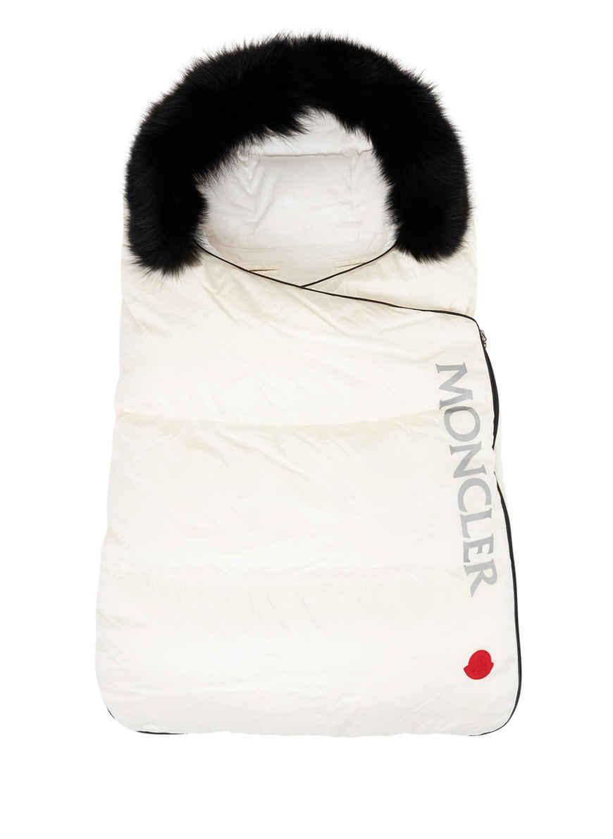 Schlafsack mit Daunenfüllung und Kapuze mit abnehmbarem EchtpelzbesatzBABY
