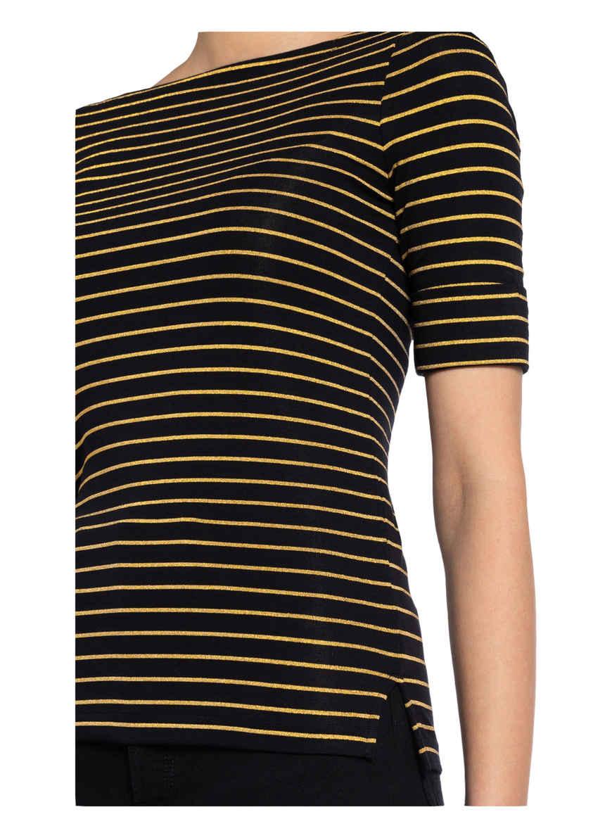 T-shirt Von Lauren Ralph Schwarz/ Gold