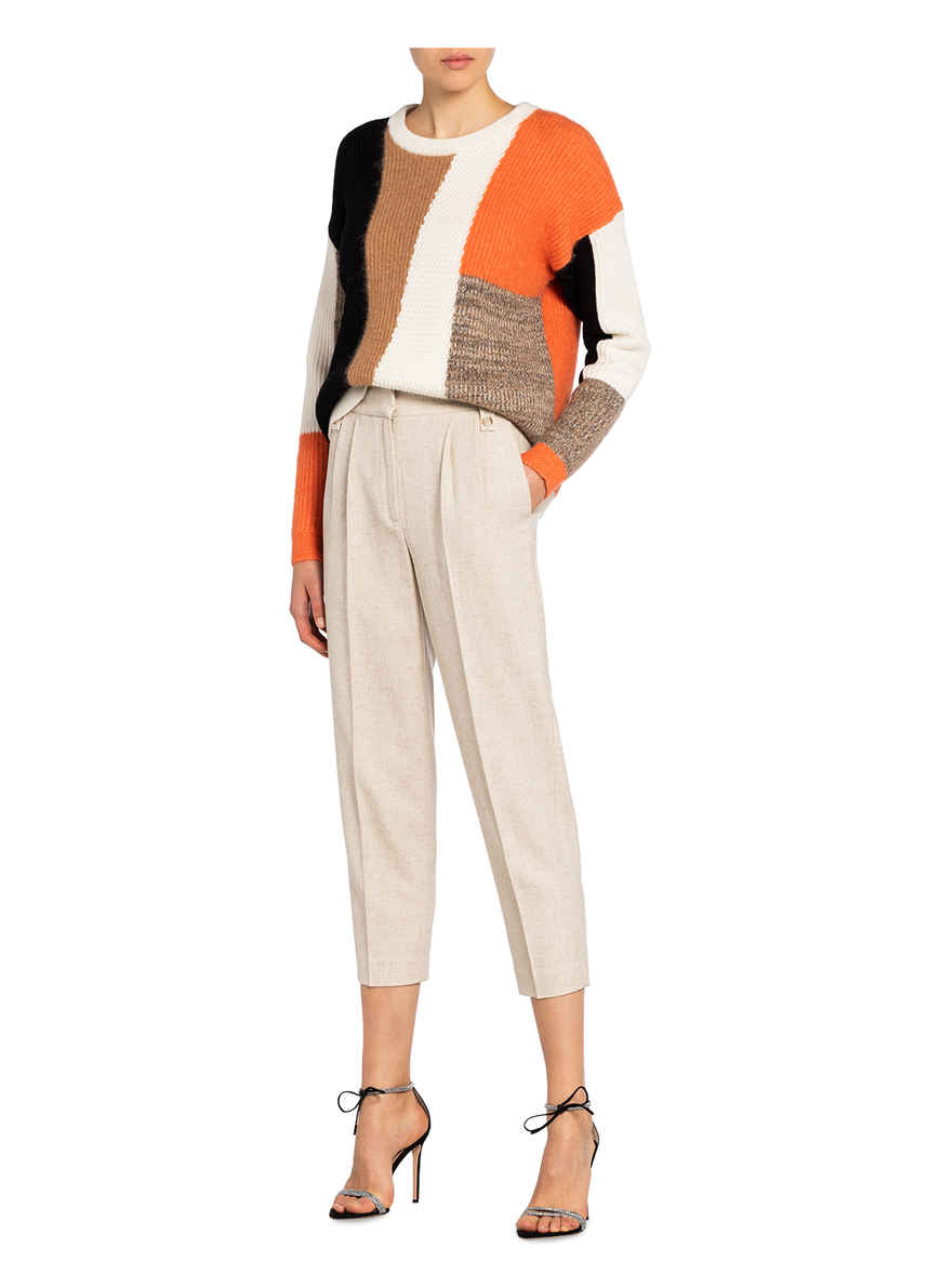 Pullover Sandy Von Reiss Ecru/ Schwarz/ Orange