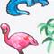 WEISS/ PINK/ BLAU