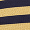 NAVY/ GOLD GESTREIFT