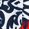 DUNKELBLAU/ WEISS/ ROT