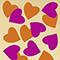 FUCHSIA/ORANGE HEART