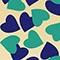 GREEN/BLUE HEART