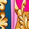 PINK/ PETROL/ GOLD